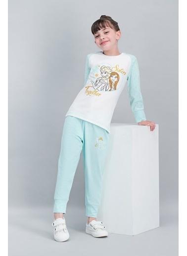Frozen Karlar Ülkesi - Frozen Lisanslı Karmelanj Kız Çocuk Pijama Takımı Krem